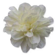 10cm Ruffled CREAM Fabric Flower Applique